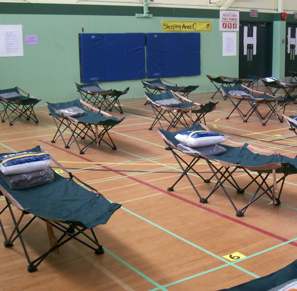 Group Lodging Set-up From BC Housing Exercise on April 4, 2009